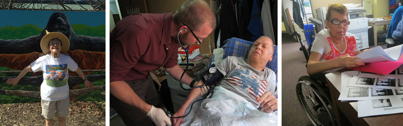 Image of a person getting their blood pressure checked.